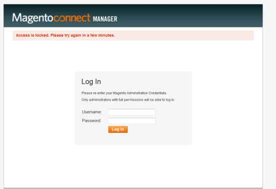 magento-connect-login-error